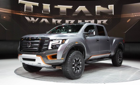 nissan titan warrior concept spotlighted at 2016 detroit auto show